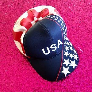 🇺🇸VINTAGE Patriotic Stars Stripes Baseball Cap